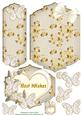 Heart and Gold Best Wishes Bookmark Card Topper