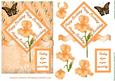 Orange Birthday Iris Card Topper