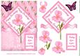 Pink Birthday Iris Card Topper