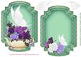 White Butterfly Green Card Topper and Insert