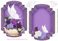 White Butterfly Card Purpletopper and Insert
