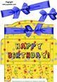 Blue Bow Birthday Money Gift Envy