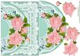Pink Roses and Lace Card Topper