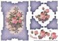 Rose and Violet Embossed Lavendar Corners Card Topper