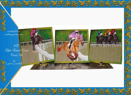 And They're Off - Horse Racing Triple Twisted Easel Card Kit