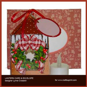Christmas Wreath Lantern Card & Envelope