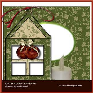 Jingle Bells Lantern Card & Envelope