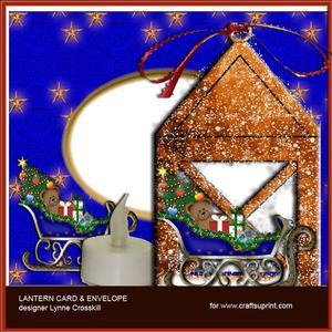 Santa's Sleigh Lantern Card & Envelope