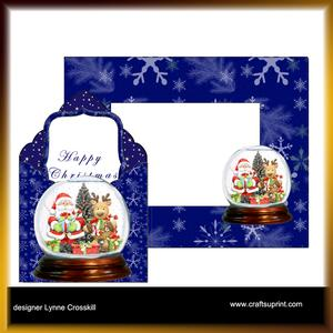Santa Snowglobe Envelope Card Kit & Envelope