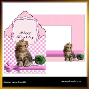Kitty Envelope Card Kit & Envelope