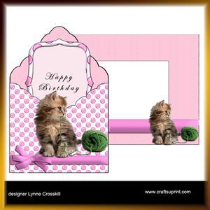Kitty Envelope Card Kit & Envelope