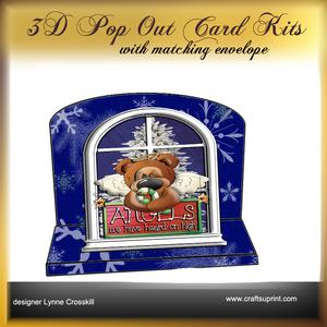 Snow Angels 3D Pop Out Card