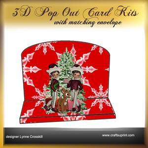 Christmas Elf 3D Pop Out Card