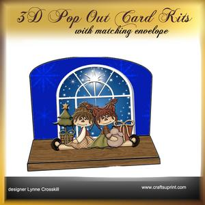 Christmas Girls 3D Pop Out Card