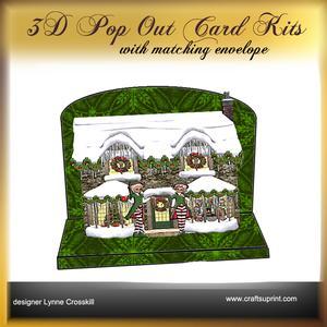Santa's Cabin 3D Pop-out Card