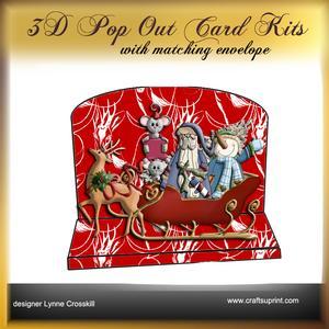 Christmas Eve 3D Pop Out Card