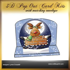 Rooftop Reindeer 3D Pop Out Card