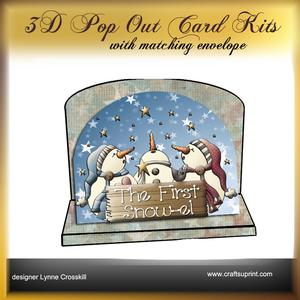 First Snow-el 3D Pop Out Card