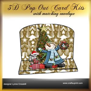 Christmas Morn 3D Pop Out Card