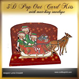 Christmas Ride 3D Pop Out Card