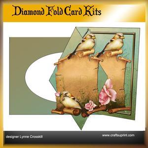 Bird & Roses Diamond Front Card Kit