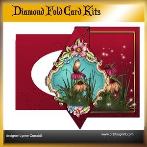 Fairy Flowers Diamond Front Card Kit