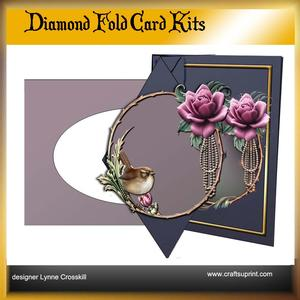 Rose & Pearls Diamond Front Card Kit