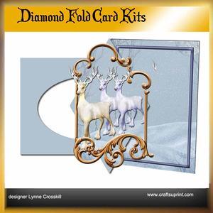 Reindeer Diamond Front Card Kit