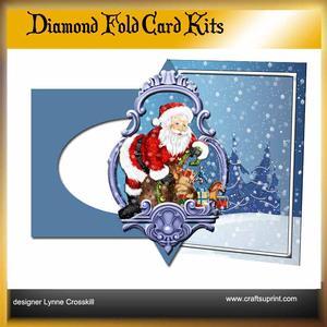 Santa Diamond Front Card Kit