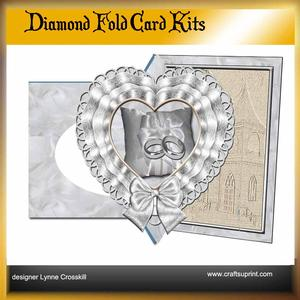 Wedding Diamond Front Card Kit