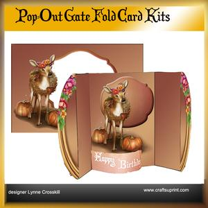 Fall Deer Pop Out Gate Fold Card