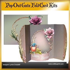 Pearls & Roses Pop Out Gate Fold Card