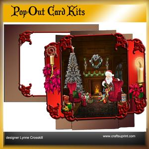 Santa's Visit Pop Out Cart Kit