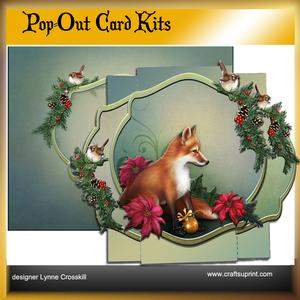 Winter Fox Pop Out Card