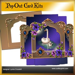 Pearls & Swans Pop Out Card