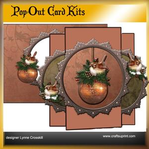Christmas Chickadees Pop Out Card Kit