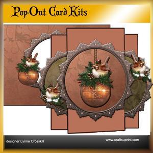 Christmas Chickadees Pop Out Card Kit