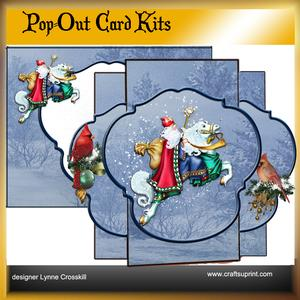 Santa's Ride Pop Out Card
