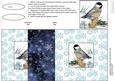 Chickadee in Winter No Hole Fold Back Card