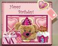 Little Girl's Birthday 3D Box Card