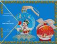 Happy Snowman 3D Christmas Ball Decoration Card Kit