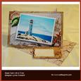 Nautical Oil Painting Over the Edge Easel Card
