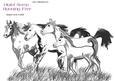 Running Free - Horse Digital Stamp