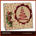 Red Christmas Tree Tent Aperture Card