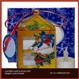 Cardinal Greetings Lantern Card & Envelope
