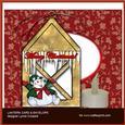 Happy Snowman Lantern Card & Envelope