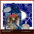 Winter Chickadees Lantern Card & Envelope