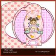 Sweet Baby Girl 4 Fold Card & Envelope