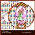 Sweet Birthday Clown 4 Fold Card & Envelope