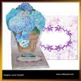 Hydrangea Basket Easel Card & Envelope